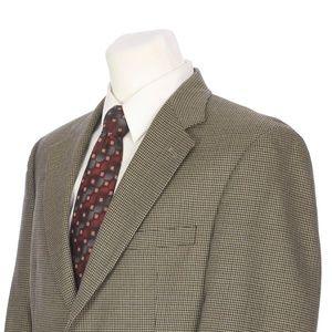 Brooks Brothers Brown Black Blue Wool Sport Coat